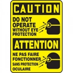 """Accuform FBMPPA660XF, Bilingual Sign """"Caution, Do Not Operate…"""""""