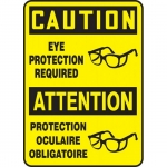 """Accuform FBMPPA664XV, Protection Sign """"Caution, Eye Protection…"""""""