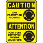 """Accuform FBMPPA666XL, Sign """"Caution, Ear Protection Required"""""""