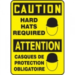 """Accuform FBMPPA668VS, Bilingual Sign """"Caution, Hard Hats Required"""""""