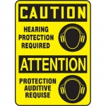 """Accuform FBMPPA671XF, Safety Sign """"Caution, Hearing Protection…"""""""
