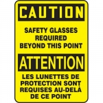 """Accuform FBMPPA703XT, Safety Sign """"Caution, Safety Glasses…"""""""