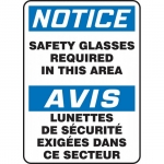 """Accuform FBMPPA802XL, Sign """"Notice, Safety Glasses Required…"""""""