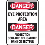 """Accuform FBMPPE122XF, Bilingual Sign """"Danger, Eye Protection Area"""""""