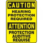 """Accuform FBMPPE427XV, Sign """"Caution, Hearing Protection Required"""""""