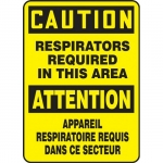 "Accuform FBMPPE440XP, Sign ""Caution, Respirators Required in…"""