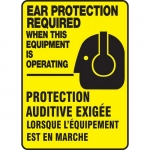 """Accuform FBMPPE505XV, Bilingual Sign """"Ear Protection Required When…"""""""