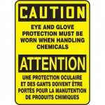 """Accuform FBMPPE603XV, Sign """"Caution, Eye and Glove Protecting…"""""""