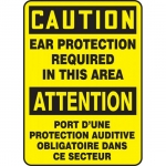 """Accuform FBMPPE682XF, Safety Sign """"Caution, Ear Protection…"""""""