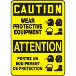 """Accuform FBMPPE755XV, Sign """"Caution, Wear Protective Equipment"""""""