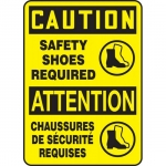 """Accuform FBMPPE763XT, Sign """"Caution, Safety Shoes Required"""""""