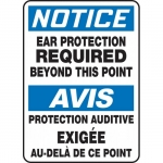 """Accuform FBMPPE889XV, Sign """"Notice, Ear Protection Required…"""""""
