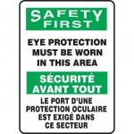 """Accuform FBMPPE907XV, Sign """"Safety First, Eye Protection Must…"""""""
