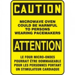 """Accuform FBMRAD610XV, Sign """"Caution, Microwave Oven Could…"""""""