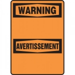 "Accuform FBMRBH327XT, 10″ x 7″ OSHA Blank ""Warning"" Dura-Plastic"