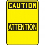 "Accuform FBMRBH607XT, 10″ x 7″ OSHA Blank ""Caution"" Dura-Plastic"
