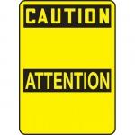 "Accuform FBMRBH608XV, Bilingual OSHA Blank ""Caution"" Dura-Vinyl"