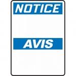 "Accuform FBMRBH834XT, 10″ x 7″ OSHA Blank ""Notice"" Dura-Plastic"