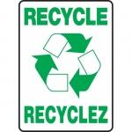 "Accuform FBMRCY508XV, Bilingual Sign ""Recycle"" Dura-Vinyl"