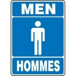 """Accuform FBMRST520XV, Bilingual Sign """"Men"""" Dura-Vinyl"""