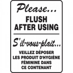 """Accuform FBMRST573XV, Bilingual Sign """"Please, Flush After Using"""""""