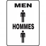 "Accuform FBMRST574XV, Bilingual Restroom Sign ""Men"" Dura-Vinyl"
