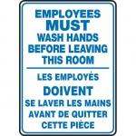 """Accuform FBMRST578XV, Bilingual Sign """"Employees Must Wash…"""""""