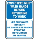"""Accuform FBMRST579XV, Sign """"Employees Must Wash Hands Before…"""""""