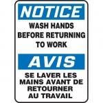"Accuform FBMRST822VS, Bilingual Sign ""Notice, Wash Hands…"""