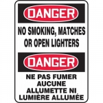 """Accuform FBMSMG100XF, Bilingual Sign """"Danger, No Smoking, Matches…"""""""