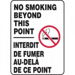"""Accuform FBMSMG536XV, Bilingual Sign """"No Smoking Beyond This Point"""""""