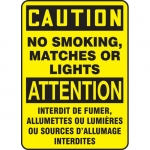 """Accuform FBMSMG601XF, Bilingual Sign """"Caution, No Smoking, Matches…"""""""