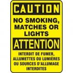 "Accuform FBMSMG601XV, Bilingual Sign ""Caution, No Smoking, Matches…"""