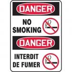 "Accuform FBMSMK016XV, Bilingual Safety Sign ""Danger, No Smoking"""