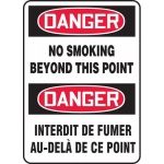 """Accuform FBMSMK019XF, Sign """"Danger, No Smoking Beyond This Point"""""""