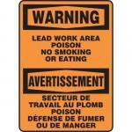 "Accuform FBMSMK027XF, Bilingual Sign ""Warning, Lead Work Area…"""