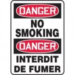 "Accuform FBMSMK134XV, Bilingual Sign ""Danger, No Smoking"""