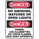 """Accuform FBMSMK137XF, Sign """"Danger, No Smoking, Matches or Open…"""""""