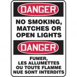 "Accuform FBMSMK137XV, Sign ""Danger, No Smoking, Matches or Open…"""