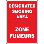 "Accuform FBMSMK403XT, Sign ""Designated Smoking Area"" Dura-Plastic"