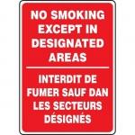 "Accuform FBMSMK598XF, Sign ""No Smoking Except In Designated Area"""