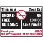"""Accuform FBMSMK910XF, Bilingual Sign """"This Is a Smoke-Free Building"""""""
