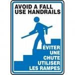 "Accuform FBMSTF505XF, Bilingual Sign ""Avoid a Fall Use Handrails"""