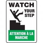 """Accuform FBMSTF506VS, Bilingual Sign """"Watch Your Step"""" Adhesive Vinyl"""