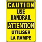 "Accuform FBMSTF630VS, Bilingual Sign ""Caution, Use Handrail"""