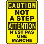 """Accuform FBMSTF649VS, Bilingual Sign """"Caution, Not A Step"""""""