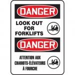 "Accuform FBMVHR126XT, Sign ""Danger, Lock Out For Forklifts"""