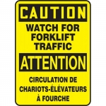 """Accuform FBMVHR633VS, Sign """"Caution, Watch For Forklift Traffic"""""""