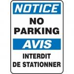 "Accuform FBMVHR855XV, Bilingual Sign ""Notice, No Parking"""