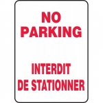 "Accuform FBMVHR919VS, Bilingual Sign ""No Parking"" Adhesive Vinyl"